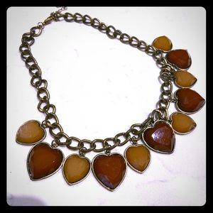 3/$15 Heart Statement Necklace